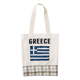 Bandera de Grecia Bolsa Tote Zazzle HEART