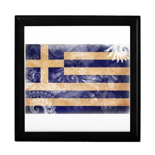 Bandera de Grecia Caja De Joyas