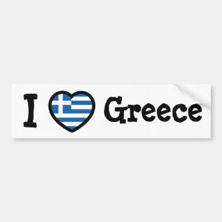 Bandera de Grecia Pegatina De Parachoque