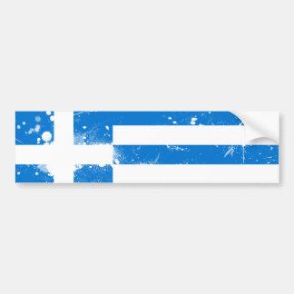 Bandera de Grecia Etiqueta De Parachoque