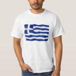 Bandera de Grecia - camiseta del valor Playera