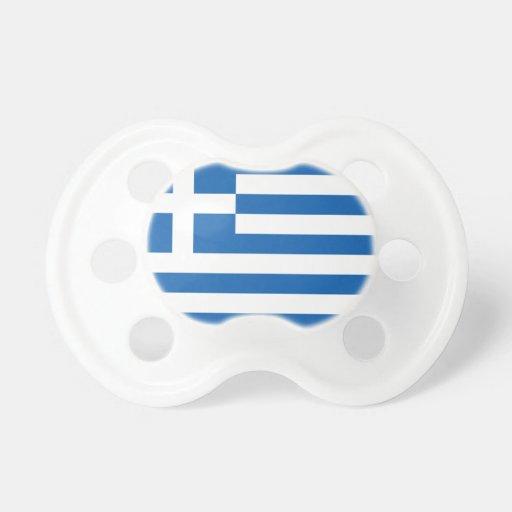 Bandera de Grecia Chupete De Bebe
