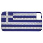 Bandera de Grecia con efecto de la fibra de carbon iPhone 5 Case-Mate Coberturas