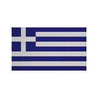Bandera de Grecia con efecto de la fibra de carbon Impresion En Lona