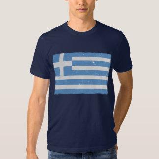 Bandera de Grecia del vintage Playeras