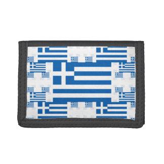 Bandera de Grecia en las capas coloridas múltiples
