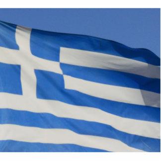 Bandera de Grecia Escultura Fotografica