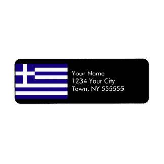 Bandera de Grecia Etiquetas De Remite