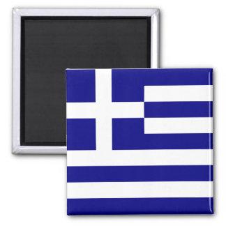 Bandera de Grecia Imán Cuadrado