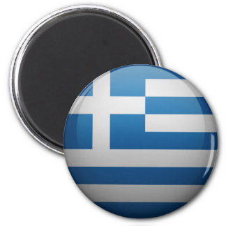Bandera de Grecia Imán Redondo 5 Cm