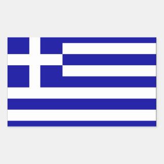 Bandera de Grecia Pegatina Rectangular