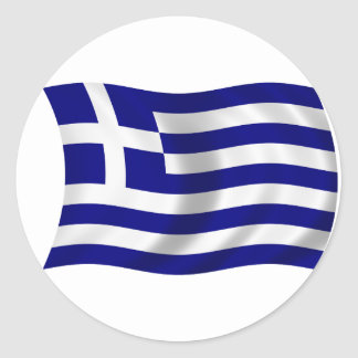 Bandera de Grecia Pegatinas Redondas