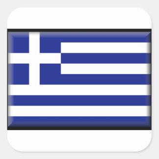 Bandera de Grecia Pegatina Cuadrada