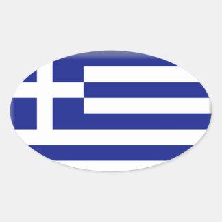 Bandera de Grecia Pegatina Ovalada