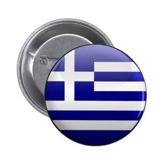 Bandera de Grecia Pin Redondo 5 Cm