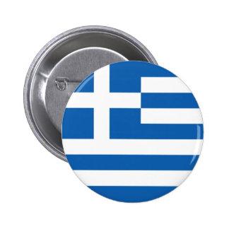 Bandera de Grecia Pin Redondo De 2 Pulgadas