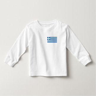 Bandera de Grecia Playera De Bebé