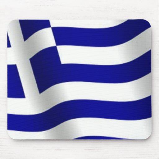 Bandera de Grecia Tapetes De Raton