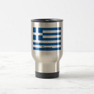 Bandera de Grecia Taza De Viaje De Acero Inoxidable