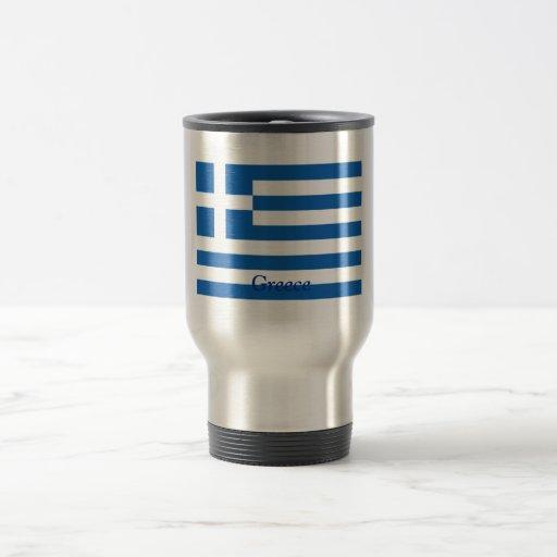 Bandera de Grecia Tazas De Café