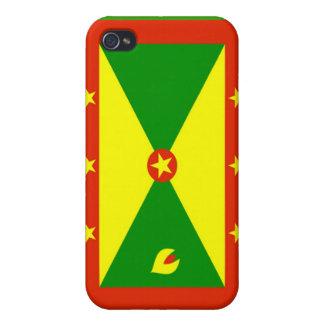 Bandera de Grenada iPhone 4/4S Fundas
