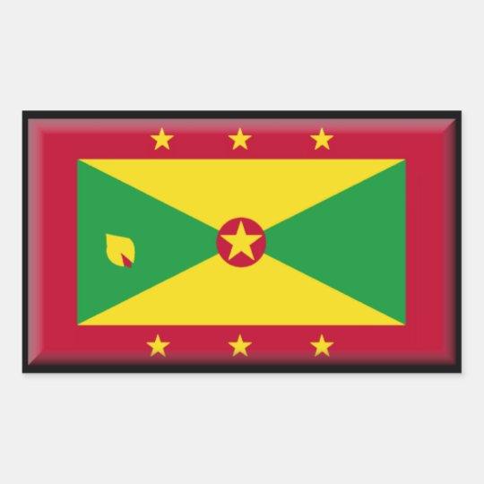 Bandera de Grenada Pegatina Rectangular