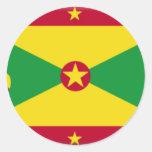Bandera de Grenada Pegatina Redonda