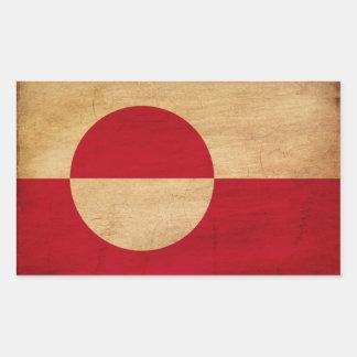 Bandera de Groenlandia Pegatina Rectangular