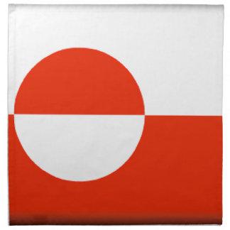 Bandera de Groenlandia Servilleta