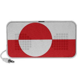 Bandera de Groenlandia Laptop Altavoz