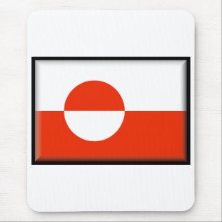 Bandera de Groenlandia Alfombrillas De Ratones