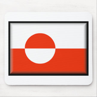 Bandera de Groenlandia Tapetes De Ratón