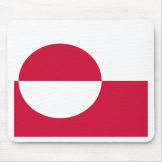 Bandera de Groenlandia Alfombrillas De Ratón
