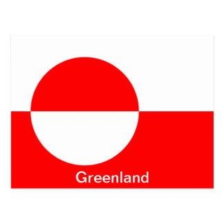 Bandera de Groenlandia Tarjetas Postales