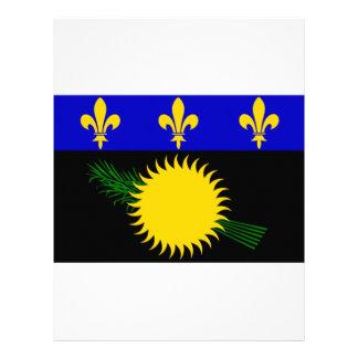 Bandera de Guadalupe (Francia) Membrete Personalizado
