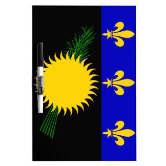 Bandera de Guadalupe (Francia) Pizarra Blanca