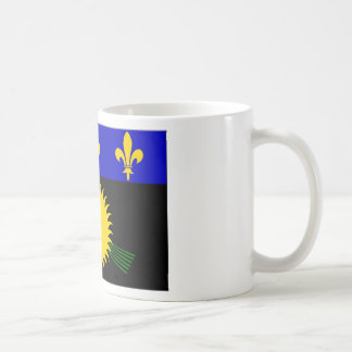 Bandera de Guadalupe (Francia) Tazas De Café