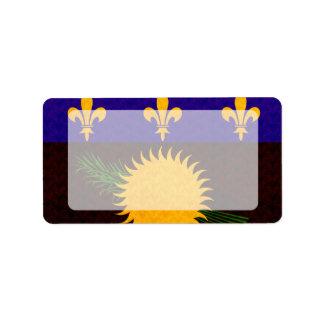 Bandera de Guadeloupean del modelo del vintage Etiquetas De Dirección