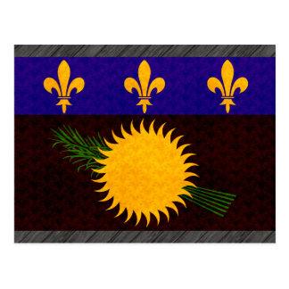 Bandera de Guadeloupean del modelo del vintage Postal