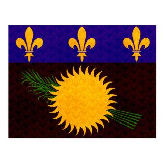 Bandera de Guadeloupean del modelo del vintage Postales