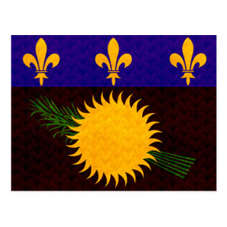 Bandera de Guadeloupean del modelo del vintage Tarjetas Postales