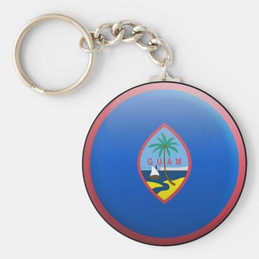 Bandera de Guam Llavero Redondo Tipo Pin