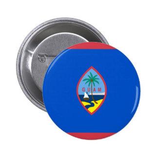 Bandera de Guam Pin Redondo De 2 Pulgadas