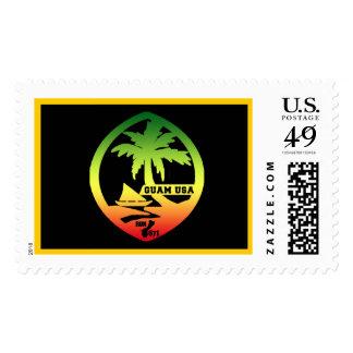Bandera de GUAM Reggea Timbre Postal