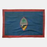 Bandera de Guam Toallas De Cocina