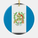 Bandera de Guatemala Adorno Redondo De Cerámica