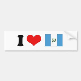 Bandera de Guatemala Etiqueta De Parachoque