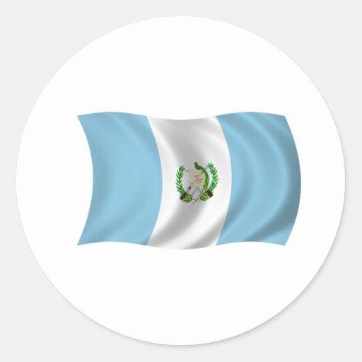 Bandera de Guatemala Etiquetas Redondas