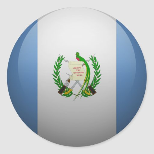 Bandera de Guatemala Pegatina Redonda