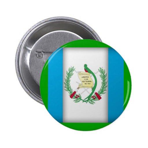 bandera de Guatemala Pin Redondo 5 Cm